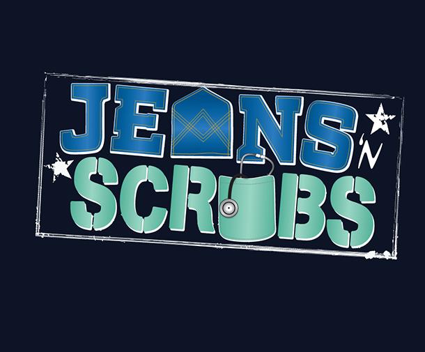 Jeans 'n Scrubs logo