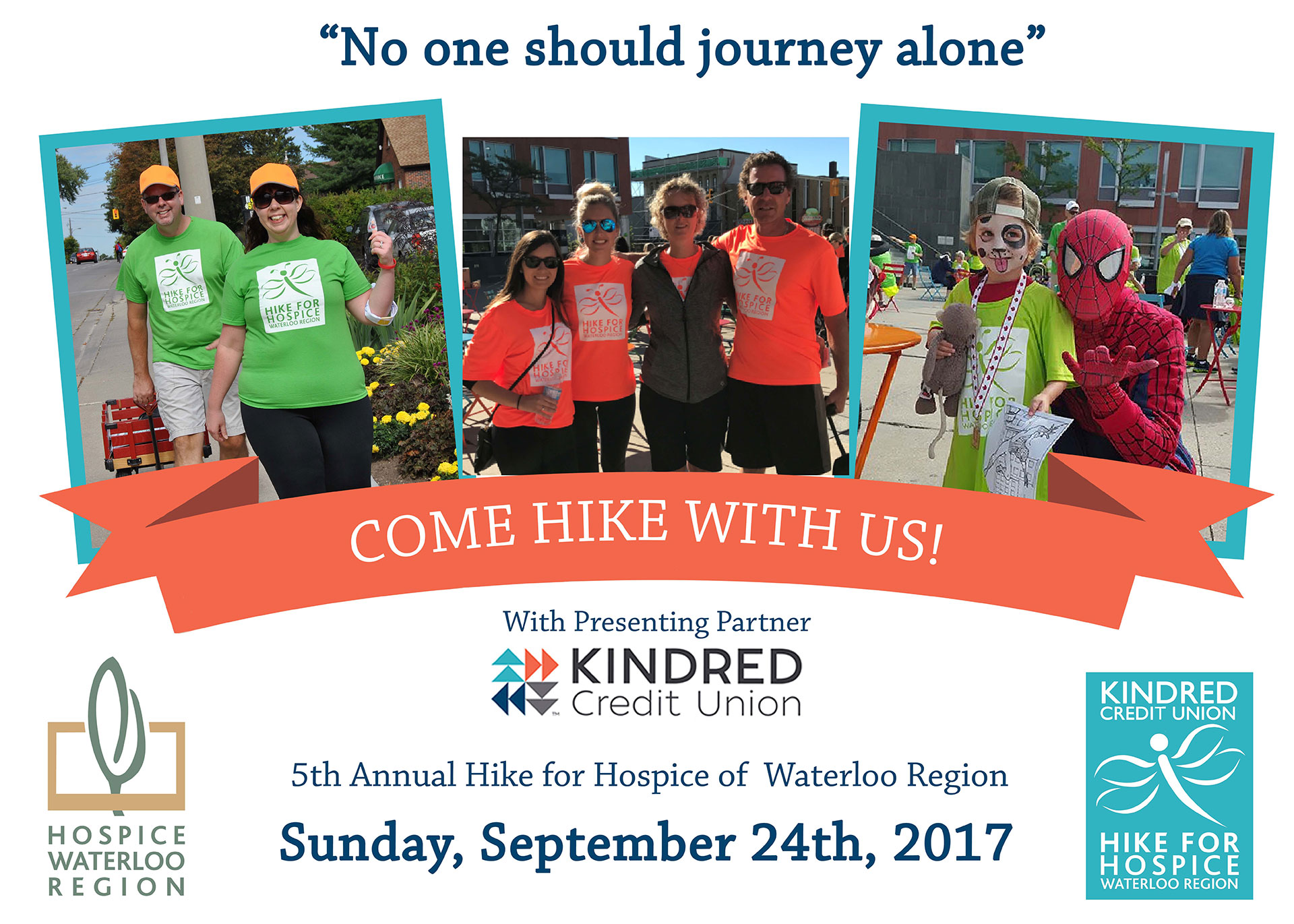 Kindred Credit Union Hike for Hospice