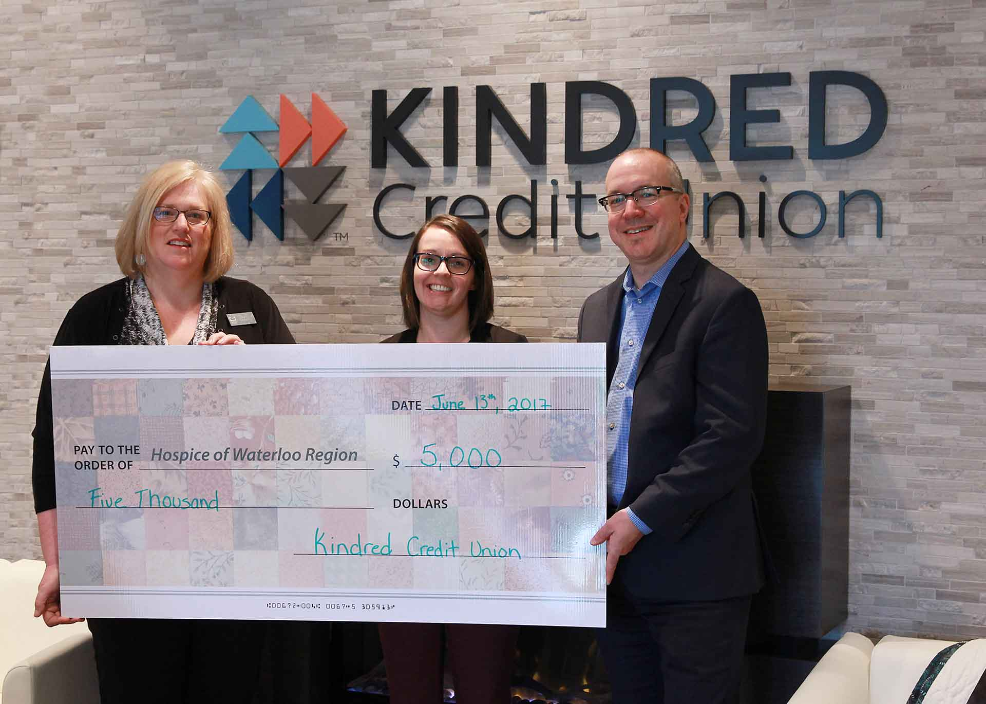 Kindred Credit Union joins Hike for Hospice Waterloo Region!