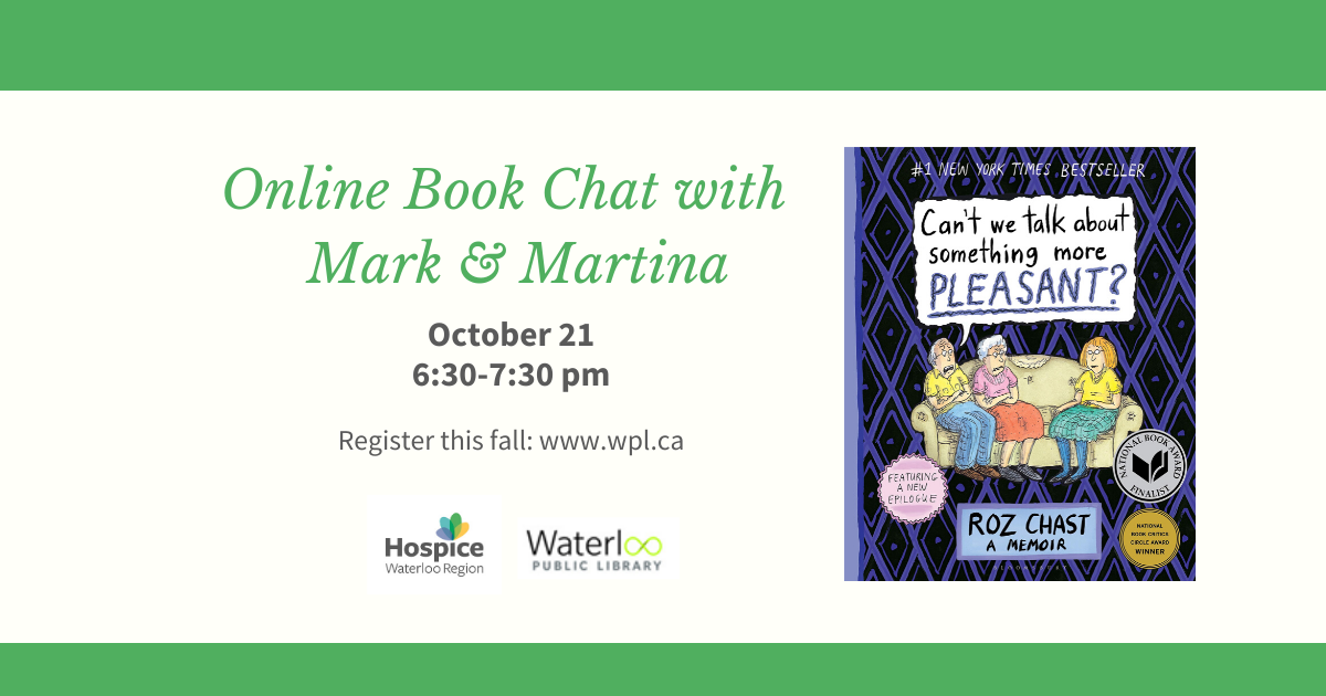 Online Book Chat With Mark and Martina