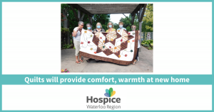 Quilts will provide comfort, warmth at new home
