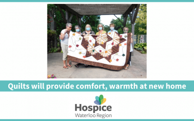Quilts will provide warmth, comfort at new home
