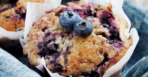 Muffins in a pan