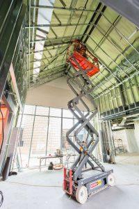 Interior photo of construction
