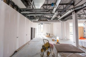 Interior picture of the construction site