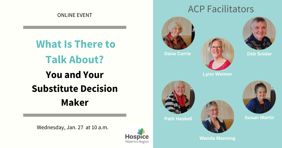 ACP Event - You and Your Substitute Decision Maker
