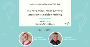 The Who, What, When and Why of Substitute Decision Making